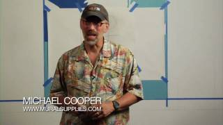Michael Cooper shows you how to use Pounce Tools to help paint Murals