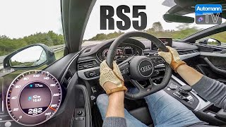 2018 Audi RS5 (450hp) - 0-286 km/h LAUNCH CONTROL (60FPS)