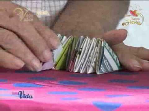 Jarrones de papel reciclado youtube - Manualidades de papel reciclado ...