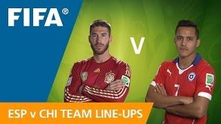 Spain v. Chile - Teams Announcement