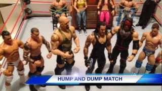GTS WRESTLING: Saturday Assault! Mattel action figure matches WWE parody animation video