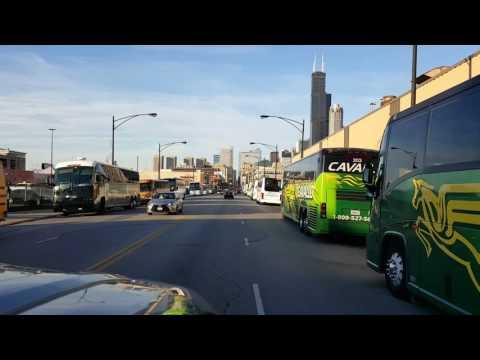 Trump Protest Busses