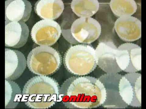 Magdalenas de chocolate - Receta de cocina RECETASonline