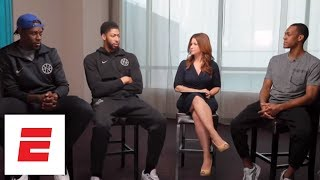 Anthony Davis, Rajon Rondo and Jrue Holiday exclusive interview with Rachel Nichols | ESPN