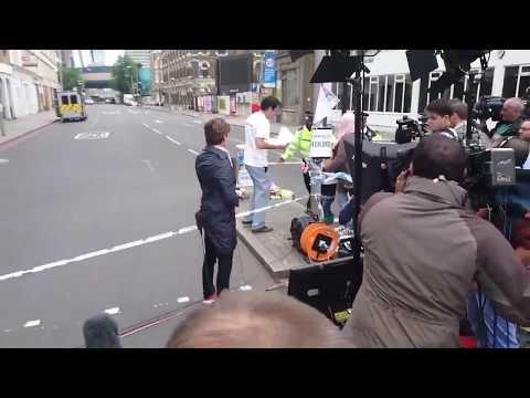 Fake protest staged by CNN film crew at London Bridge terrorist attack scene