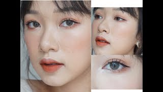 GRWM : MAKEUP WITH LIPSTICK  | Make up 3in1 với son | LINGMAKEUP