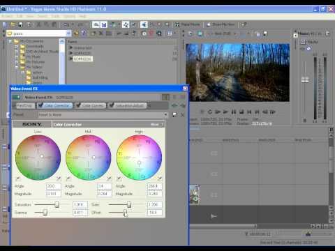 sony tutorial: how to make a cinema film effect in sony movie studio
