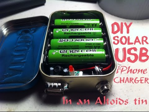 DIY solar USB iPhone charger 2.0