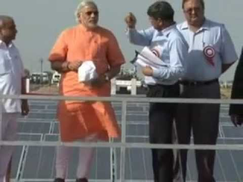 NARENDRA MODI world's first canal-top solar plant in Guj--1.flv