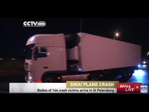 Bodies of 144 crash victims arrive in St Petersburg