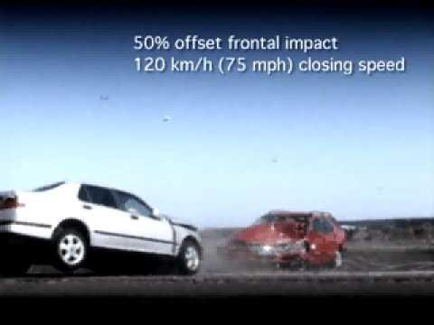 SAAB Краш-тест, 120 км/час