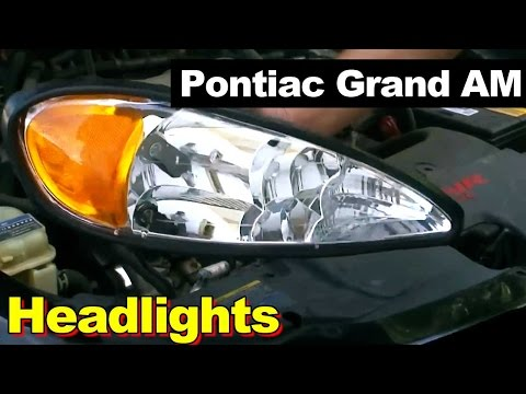 how to install replace headlight and bulb pontiac grand. Black Bedroom Furniture Sets. Home Design Ideas