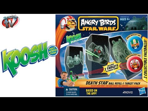 Angry Birds Star Wars Death Star Koosh Refill & Target Pack Toy Review Unboxing