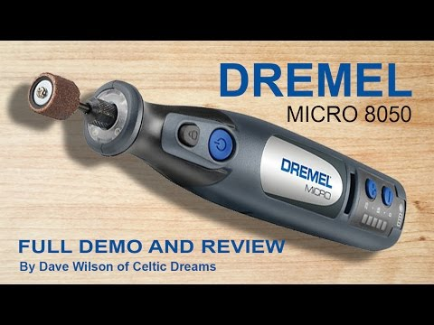 Dremel Micro Cordless 8050 FULL Demo.  Review & how to in HD