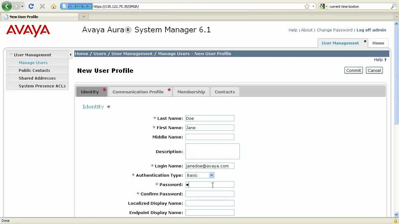How To Add Sip Users In Avaya Aura Session Manager Youtube