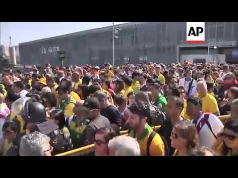 Fans arrive at Maracana stadium for France v. Germany quarterfinal