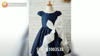 Ruffles Wedding Baby Girl Dresses with Customer Photos