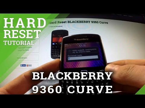 Hard Reset Blackberry 9360 Curve - bypass password protection
