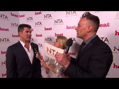 Backstage at the NTAs with Simon Cowell