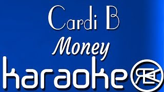 Cardi B - Money | Karaoke lyrics Instrumental