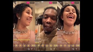 CARDI B ASKED OFFSET IF HE WANTED SOME ....👀😂 CARDI B & OFFSET ON INSTAGRAM LIVE *HILARIOUS*