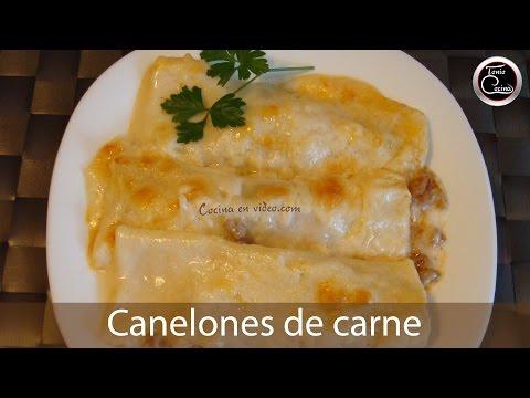 Cómo preparar Canelones de carne #120 - Cocina en video.com
