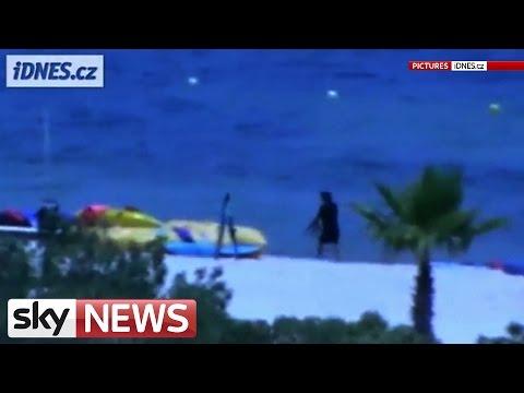 Tunisia Gunman Walks Along Sousse Beach