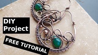 DIY project Wire earrings tutorial without soldering