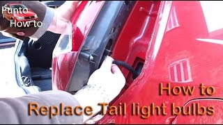 Replacing Tail Light Bulb, Fiat Punto 1999-2006 mk2
