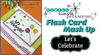 Simply Simple FLASH CARD MASH UP - Let`s Celebrate By Connie Stewart