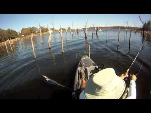 Kayak bass fishing on Lake Fork Oct. 14 - 15, 2011