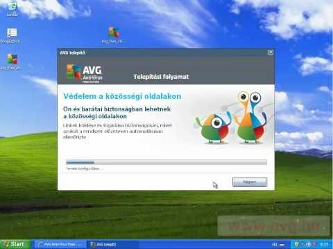 AVG Free 2011 ingyenes vírusirtó program telepítése