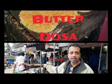 Hyderabad street food 2020| Sunday Special Laxman ki bandi Butter Dosa, hyderabad fusion,