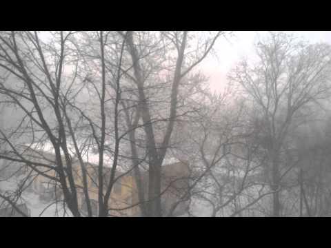 Видео метели в Кирове 17.03.2016