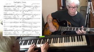 Twilight Time - guitar & piano Jazz cover ( Morty & Al Novins ) Yvan Jacques