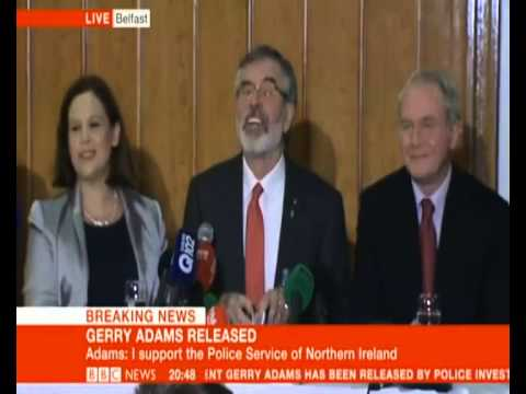 Gerry Adams subliminal messages in press conference