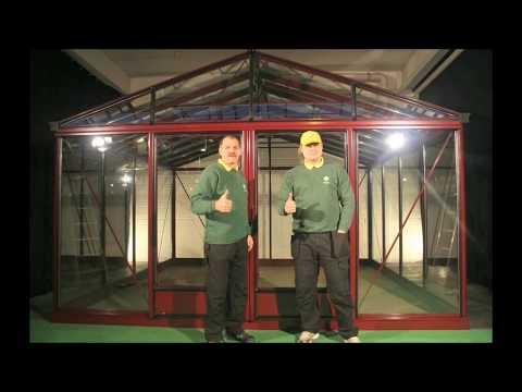 Aufbauvideo Gewächshaus / Glashaus Venezuela 400x400 TEIL1