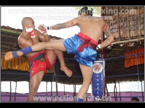 Lethwei Burmese Boxing [HD] - Fight Tournament near Eindu (2) - Kayin State Myanmar - Thingyan 2013 Image 1
