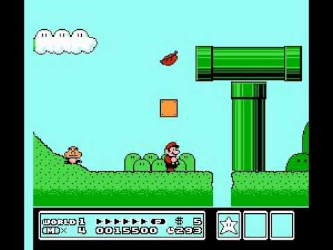 Super Mario Bros 3 - How to get a warp zone flute (world1) - User video