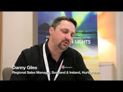 Danny Giles, Regional Sales Manager, Scotland & Ireland, Hurtigruten Travel Industry Road Show 2014