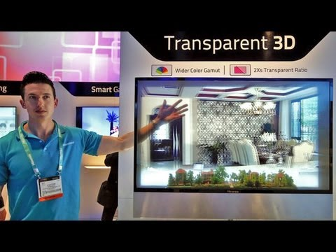 Amazing See-Through LED Display for Transparent 3D (CES 2013)