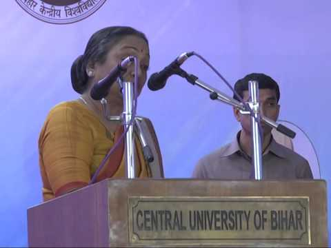 Speech of Hon'ble Smt. Meira Kumar, Chancellor Central University of Bihar