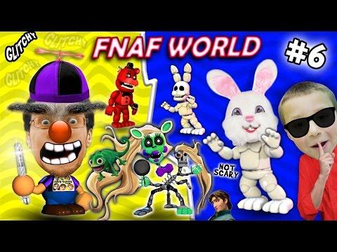 FNAF WORLD #6: The Secret White Rabbit!?!? FGTEEV Duddy without Chase vs. Brow Boy & Rapunzel