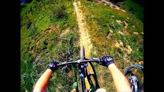 Mountain Biking 35 Foot Rolling Drop!