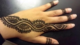 Arabic Henna Strip - Simple Pretty Henna Design