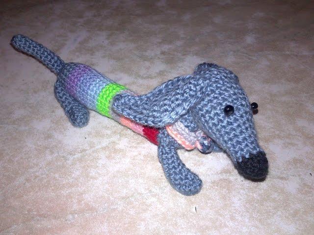 Собачка Спиралька.Такса крючком,игрушки амигуруми,амигуруми крючком.СОБАЧКА КРЮЧКОМ (такса)
