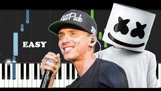 Logic & Marshmello - Everyday (EASY Piano Tutorial)