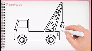 How to Draw Crane for Kids Learning How to Draw Crane Truck Very Easy for Kids