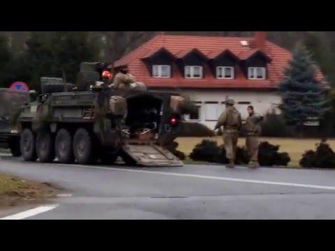 NATO Army Ride Poland -  dk5 Stęszew-Poznań by drejk 12 3 2016