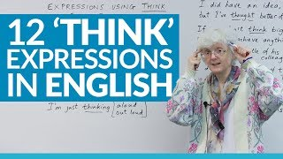 12 English expressions using